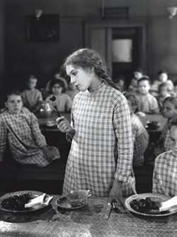 "YUCK!:  In ""Daddy Long Legs,"" Mary Pickford stars as Jerusha ""Judy"" Abbott, a plucky orphan who protests the prune dinners served at her orphanage. - PHOTOS COURTESY OF SLOIFF"