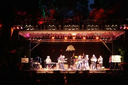 THE MAIN STAGE:   The Texas Tornados presented an amazing Tex-Mex show on the main stage.