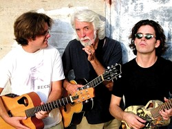 EAST COAST BOUND :  Nitty Gritty Dirt Bander John McEuen (with son Nathan and Scott Gates) plays a couple final West Coast shows at Painted Sky Studios on Jan. 16 before permanently moving to Manhattan. Get him while the getting's good. - PHOTO COURTESY OF JOHN MCEUEN