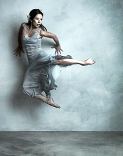 BACK TO THE WALL :  Jennita Russo is one of 20 dancers performing in Lisa Deyo's annual show. - PHOTO BY BARRY GOYETTE