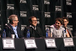 INDUSTRY INSIDERS :  Directors Tom Hooper (Les Miserables), Rich Moore (Wreck-It Ralph), David O. Russell (Silver Linings Playbook), Benh Zeitlin (Beasts of the Southern Wild), Malik Bendjelloul (Searching for Sugarman), and Mark Andrews (Brave) discussed their approach to the craft. - PHOTO COURTESY OF SBIFF