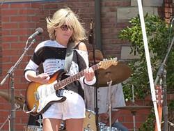 ROCK GODDESS:  Kristen Black puts her band through their paces on Sept. 11 at D'Anbino Cellars. - PHOTO COURTESY OF KRISTEN BLACK