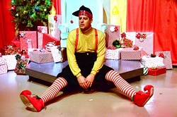 ALL ELFED UP:  David Sedaris (Kevin Harris) quickly realizes he's in over his head when he takes on a seasonal gig as an elf at Macy's. - PHOTO COURTESEY OF JAMIE FOSTER PHOTOGRAPHY
