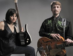 HERE, KITTY :  Bassist Lissy Abraham and guitarist Matthew White are the Ballistic Cats Duo, performing at Sculpterra Winery at the Songwriters at Play Showcase on Dec. 23. - PHOTO COURTESY OF BALLISTIC CATS DUO