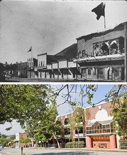 BEFORE, AFTER:  Many of the former buildings that comprised San Luis Obispo's historic Chinatown have since been replaced by parking structures. - TOP, COURTESY OF LAKE COUNTY ARCHAEOLOGY; BOTTOM, TOM FALCONER