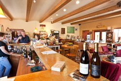 HEAVEN BY THE GLASS :  The Costa de Oro tasting room pours samples only by the glass, which really is a bargain on Fridays when great musicians appear at no cover charge. - PHOTO BY STEVE E. MILLER