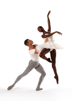 YOU LIFT ME UP:  Taurean Green and Ashley Murphy (pictured) will perform in Dance Theatre of Harlem's touring showcase of neoclassical ballet. A groundbreaking company since the late '60s, Dance Theatre returned last year after an eight-year hiatus. - PHOTO BY RACHEL NEVILLE