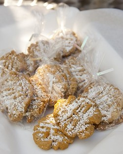 NUTTILY DELICIOUS :  Homemade, award winning (MidState Fair) peanut butter cookies made by Lynn Copsey make for a great dessert snack. - PHOTO BY STEVE E. MILLER