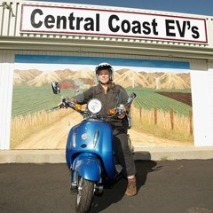 GREEN TO GO :  Central Coast EVs owner Zelma Fishman is proud of the new electric vehicle emporium in SLO. - PHOTO BY STEVE E. MILLER