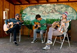 A BEAUTIFUL DAY IN THE NEIGHBORHOOD :  Psychedelic acoustic folk trio Incomplete Neighbor comes to Frog and Peach on March 29. - PHOTO COURTESY OF INCOMPLETE NEIGHBOR