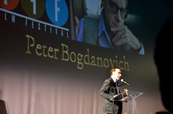 WHAT'S UP, BOG?:  Acclaimed filmmaker and film scholar Peter Bogdanovich (Paper Moon, What's Up, Doc?) received the King Vidor Award. - PHOTO BY JESSICA PEÑA