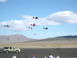 DAY AT THE RACES :  Pilot Mike Dacey of Pismo Beach, whose plane is pictured in this 2009 photo, hit 374 miles per hour and won the gold prize at the 2010 Reno Air Races. - PHOTO COPYRIGHT JAN PETERS, 2009, WWW.AIRRACE.INFO