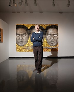 AVANT GARDE :  Like his colleagues at six other local art organizations, Jeff Van Kleeck, who coordinates Cal Poly's University Art Gallery, doesn't stand on tradition. - PHOTO BY STEVE E. MILLER