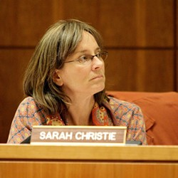 A TURTLE? :  Proponents of developing the Santa Margarita Ranch believe planning commissioner Sarah Christie wanted to slow hearings. - PHOTO BY STEVE E. MILLER