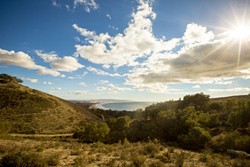 TO PRESERVE AND PROTECT:  The Pismo Preserve land conservation project received a $1.1 million boost from the San Luis Obispo County Board of Supervisors on May 20, but is still looking for $2.4 million more by July to close the - deal on buying the 900-acre property, pictured here. - FILE PHOTO BY HENRY BRUINGTON