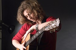 STRING GENIUS :  Virtuoso guitarist Vicki Genfan plays Jan. 13 at Steve Key's songwriter showcase at The Clubhouse, and Jan. 14 at Santa Maria's 3rd Coast Café. - PHOTO COURTESY OF VICKI GENFAN