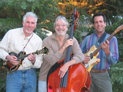 BAND OF BROTHERS C:  (Left to right) mandolinist Tom Walters, guitarist Bruce Corelitz, and bassist Ken Hustad are Inner Faces, performing Aug. 1 at Coalesce Bookstore. - PHOTO COURTESY OF INNER FACES