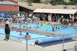 SUMMER FUN :  Memorial Day marks the unofficial start of summer, and the SLO Elks Lodge was swarmed by families out to beat the heat. - PHOTO BY GLEN STARKEY