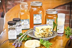 HOW SWEET IT IS:  Native Herbs & Honey Co. of Los Osos produces raw, wild sage honey, wild herb seasoning, and natural soaps. These sweet-smelling (and tasting) products can be found at the company's new storefront located at 1001 Santa Ynez Avenue in Los Osos. - PHOTO BY NATIVE HERBS & HONEY