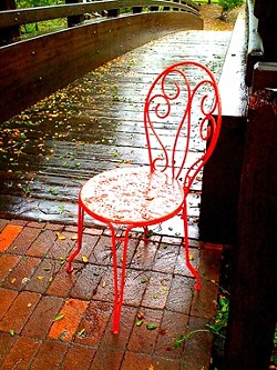 RAINY CHAIR : - PHOTO BY STEVE E. MILLER