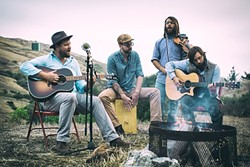 GATHER 'ROUND:  Moonshiner Collective headlines a four-band show at the Fremont Theater on Jan. 15, the first of three SLO Gathering concerts highlighting local talent. - PHOTO COURTESY OF MOONSHINER COLLECTIVE