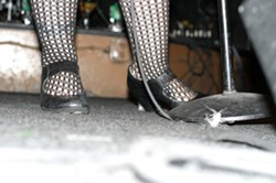 THESE SHOES WERE MADE FOR STOMPING :  Candye Kane wants to stick these up my keister! - PHOTO BY GLEN STARKEY