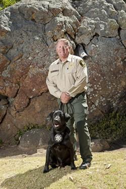 AL BARGER, AND JACK, K9:  SLO County Sheriff's Deputy, Narcotics Detection K9 Handler, K9 Unit Coordinator - PHOTO BY STEVE E. MILLER
