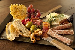 SPLENDID VARIETY :  Pictured are selections from Cuvée's Spanish, Italian, American, and French plates.