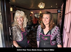 BEGUILING :  Cindy Giovacchini and Johnna Bramblett  have opened an intimate wine bar within steps of the popular Cracked Crab restaurant on Price Street. - PHOTO BY STEVE E. MILLER
