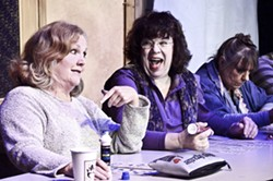 BINGO! :  Margie (Patty Thayer, left) and Jean (Elaine Fourier, right) chew the fat during one of their routine bingo gatherings. - PHOTO COURTESY OF JAMIE FOSTER PHOTOGRAPHY