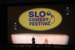 FEST FOR THE REST OF US:  Eric Shantz hosts the concluding Best of the Fest event at The Fremont at last year's SLO Comedy Festival. - PHOTO COURTESY OF SLO COMEDY FESTIVAL