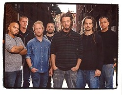 SOJA SOUNDS :  (Left to right) Rafael Rodriguez, Patrick O'Shea, Bobby Lee Jefferson, Ken Brownell, Jacob Hemphill, Ryan Berty, and Hellman Escorcia are SOJA, playing May 27 at Pozo Saloon. - PHOTO BY SAM ERICKSON