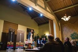 "SPEAK, HANDS FOR ME:  Nipomo High School freshman Graciela Maldonado garnered second place at Poetry Out Loud for her renditions of Judith Ortiz Cofer's ""El Olvido"" and Brenda Cardenas' ""Zacuanpapalotls."" - PHOTO BY KAORI FUNAHASHI"