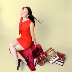 TOY PIANO QUEEN :  Chinese-French chanson singer/accordionist/toy pianist Jessica Finchot appears April 24 at Steynberg. - PHOTO COURTESY OF JESSICA FINCHOT