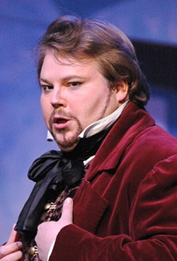 "CHRISTOPHER BENGOCHEA :  Pictured here as Cavaradossi in Tosca, tenor Christopher Bengochea will thunder at the Pacific Repertory Opera's ""Opera in the Vineyards"" concert - PHOTO COURTESY OF COLLEEN ROSENTHAL"