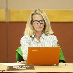 ANOTHER BOOT:  The Morro Bay City Council majority on Nov. 12 followed through with initiating a separation agreement for City Manager Andrea Lueker. - FILE PHOTO BY STEVE E. MILLER