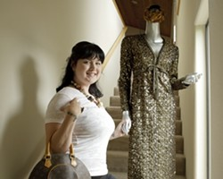 HAND IN HAND :  Lisa Graystone's grandmother introduced her to the world of fashion as a child and has bestowed treasured pieces.