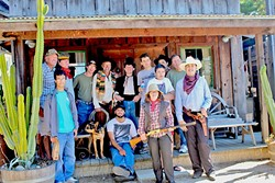 """HELLO, STRANGER:  Other Hollywood stars, like Timothy Bottoms (fifth from the left)—star of """"The Last Picture Show"""" and """"The Paper Chase""""—have worked on other Adventure Club SLO films, such as """"Hello, Stranger."""" - PHOTO COURTESY OF ADVENTURE CLUB SLO AND 3:33AM PRODUCTIONS"""