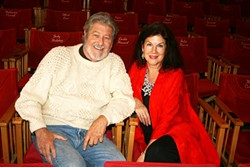 LOVE LETTERS:  Three decades after its first Cambria debut, Christopher Law and Mara Purl will star in 'Sea Marks' at the Pewter Plough Playhouse through Nov. 8. Late theater founder Jim Buckley was a fan of the show and responsible for its first—and latest—appearance in the coastal community. - PHOTO BY HAYLEY THOMAS