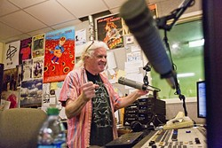 THE DISGUSTING OLD HIPPIE:  ... was the DJ moniker for James Cushing, who DJed at KCPR for 18 years before he an his counterparts, the non-student community DJs on the station, were dismissed in June following the announcement of a series of changes to the station. - PHOTO BY KAORI FUNAHASHI