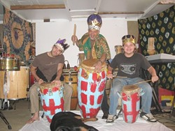 THEY'LL FUNK YOU UP! :  (Left to right) Sean Phillips, James Balseiro, and Raphael Imboden Balseiro are Your Royal Funkyness, playing April 8 at Creekside Brewing. - PHOTO COURTESY OF YOUR ROYAL FUNKYNESS