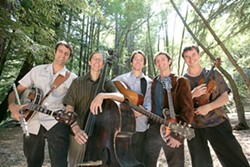 GREEN BLUEGRASS ROCK :  Hot Buttered Rum will drive their enviro-friendly biodiesel bus to Downtown Brew on Oct. 2 for an evening of rock played on bluegrass instruments. - PHOTO COURTESY OF HOT BUTTERED RUM