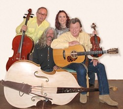 FRIENDS INDEED :  Troubadour Don Lampson (right) and his musical collaborators Bob Liepman, Charlie Kleemann, and Julie Beaver, perform Jan. 29 at Steynberg. - PHOTO COURTESY OF DON LAMPSON & FRIENDS