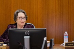THE MAJORITY:  SLO Mayor Jan Marx believes the Airport Land Use Commission flippantly rejected the city's Land Use and Circulation Element update outright with no evidence to support its decision. - PHOTO BY KAORI FUNAHASHI