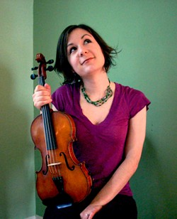 FIDDLE-RRIFIC:  The Red Barn Community Music Series is coming out of the barn and into a house for the music of New England fiddler/singer Lissa Schneckenburger and her trio on June 22 at a special house concert in Los Osos. - PHOTO COURTESY OF LISSA SCHNECKENBURGER
