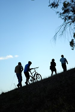 HAPPY TRAILS TO YOU:  For more than 20 years, CCCMB has been forging new trails all over the county. Members surveyed recent work at Irish Hills, on the edge of SLO. - PHOTO BY STEVE E. MILLER