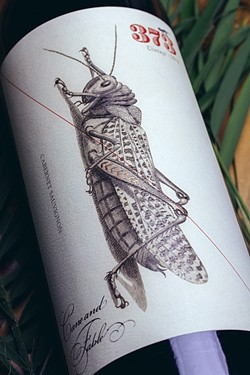 PUSHING YOUR COMFORT ZONE :  A grasshopper graces Cane & Fable's first offering, a public domain image Makers & Allies found and enhanced. - IMAGE COURTESY OF MAKERS & ALLIES