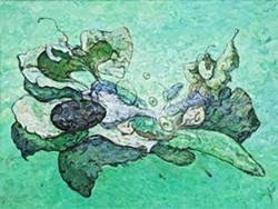GREEN MACHINE:  'Fluid Meditation' spans the verdant spectrum. - IMAGE COURTESY OF THE STEYNBERG GALLERY