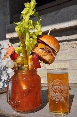 GO BIG OR GO HOME! :  On April 14, Sweet Springs Saloon in Los Osos will present its 30th annual Bloody Mary contest, and Glen Starkey will be there to share in the judging duties. - FILE PHOTO