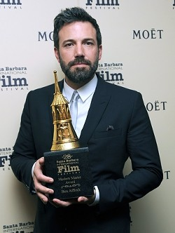 MODERN MASTER :  Argo director and star Ben Affleck received the festival's Modern Master Award. - PHOTO COURTESY OF SBIFF